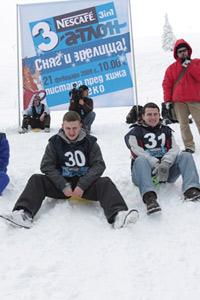 Сняг, зрелища и сточици участници в първия Nescafe® 3in1 триатлон