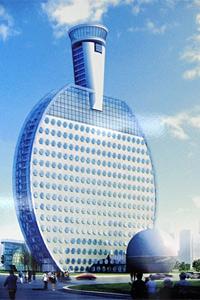 Строят хотел с форма на ракета за тенис на маса