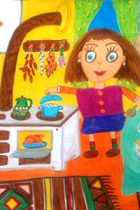 "Конкурс за детски рисунки и литературни произведения ""Рецептите на баба 2015"""