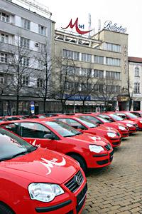 101 червени VW Polo изпълниха площад Народно събрание