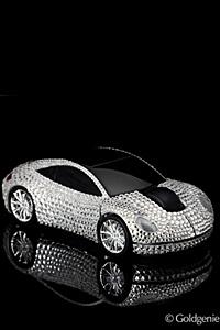 Уникална безжична мишка с кристали Swarovski