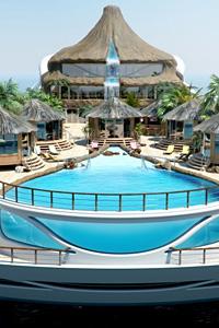 Yacht Design създаде яхта с водопади и палми